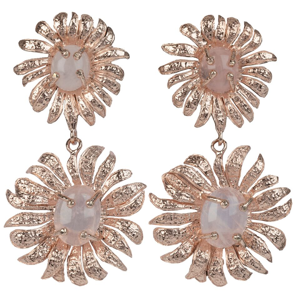 Evelynne Earrings Rose Gold/Pink