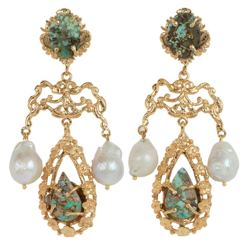 Liliana Earrings Turquoise
