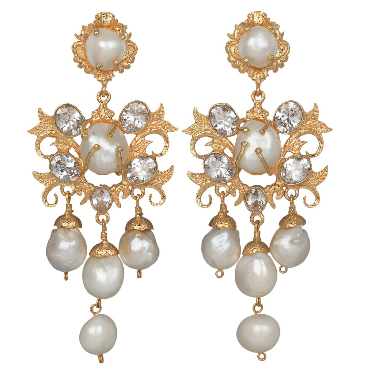 Ariadne Earrings Gold/Crystal