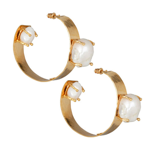 Lucetta Hoops Gold/Pearl
