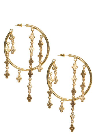 Esmeralda Hoops Gold