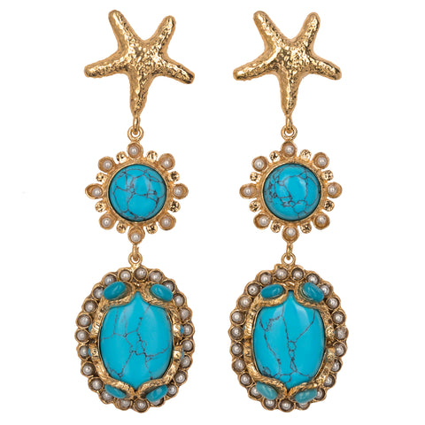Carmela Earrings Turquoise