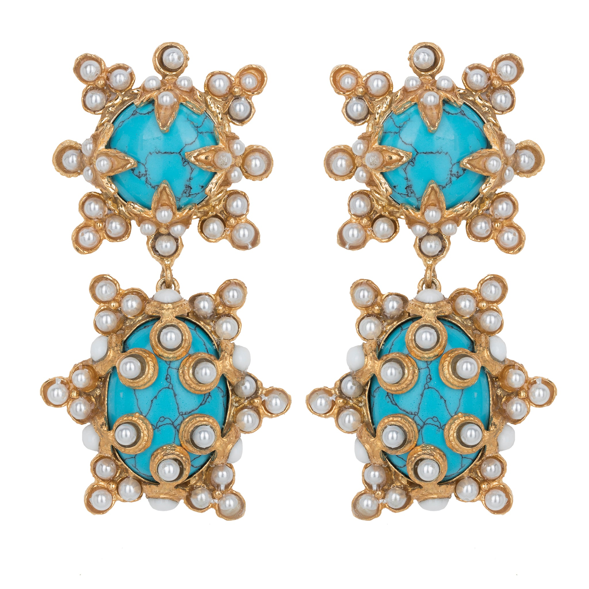 Lucia Earrings Turquoise