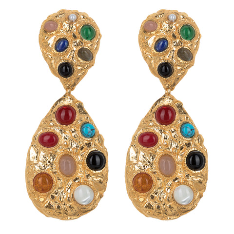 Donatella Earrings Gold/Multi