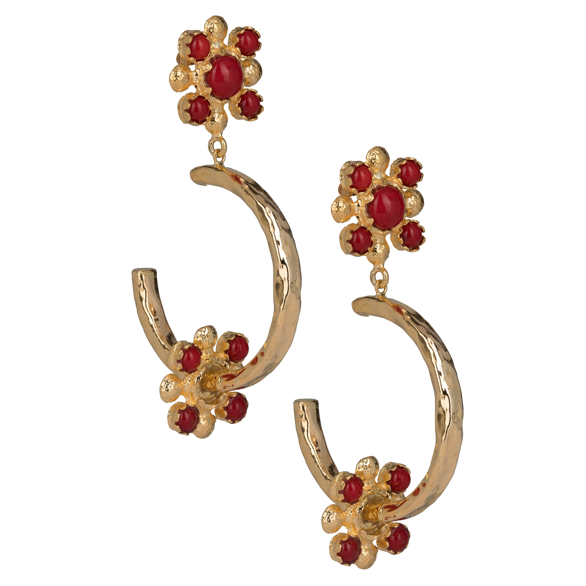 Giovanna Hoops Red