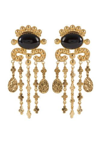Euphemia Earrings Gold & Black