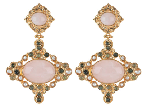 Claudina Earrings Pale Pink