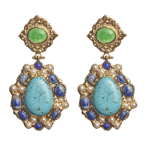Madelina Earrings Turquoise