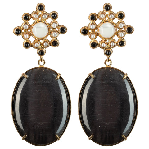 Blanca Earrings Black