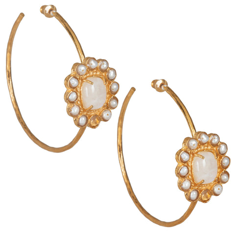 Claudia Hoops Moonstone