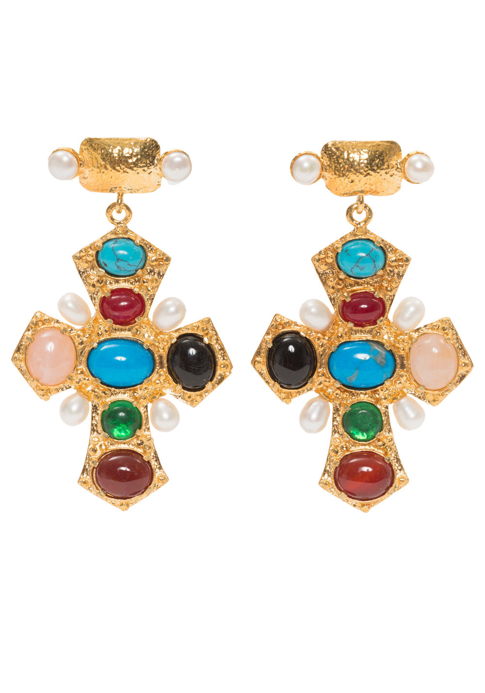 Agnes Earrings Gold/Multi