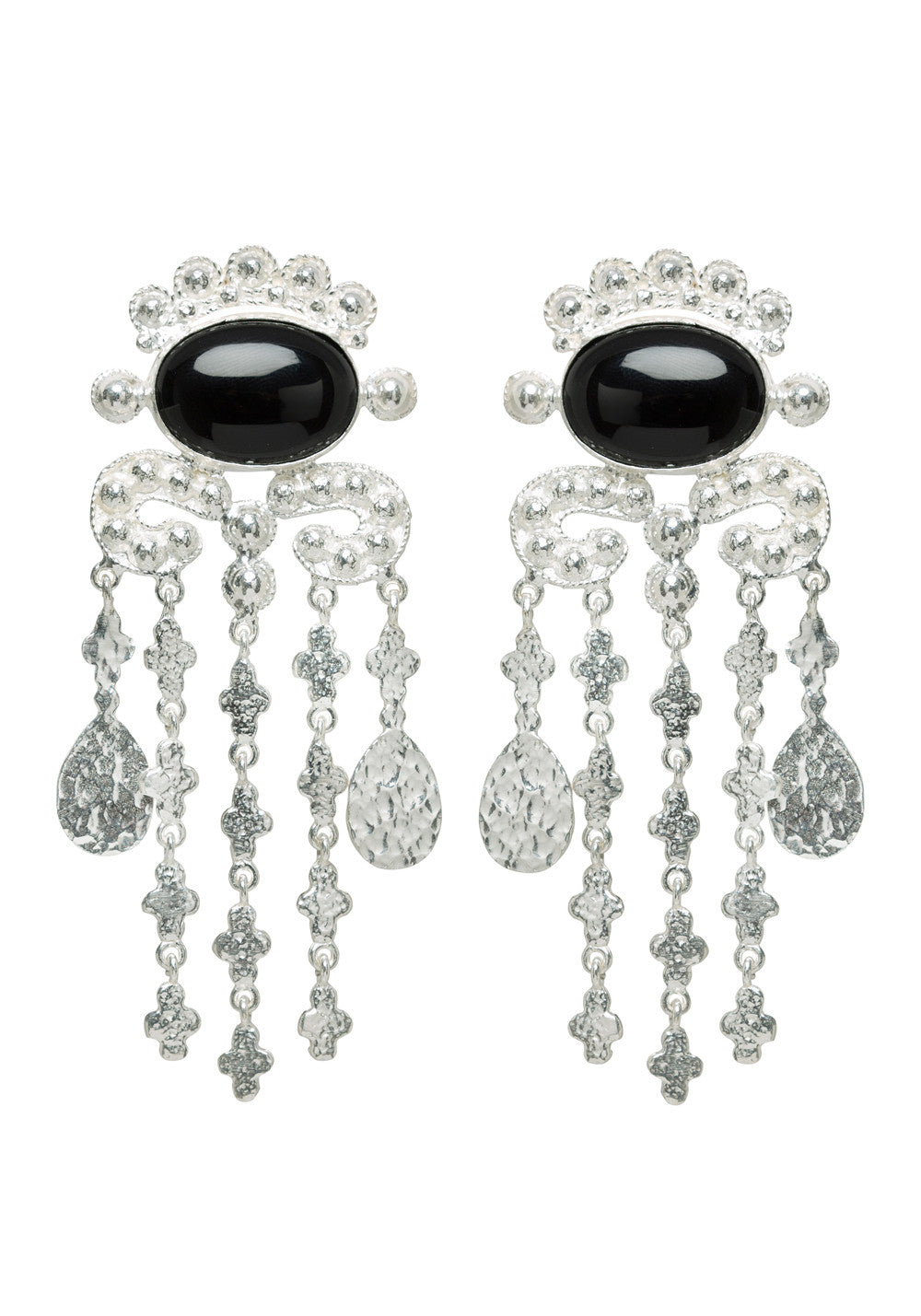 Euphemia Earrings Silver & Black