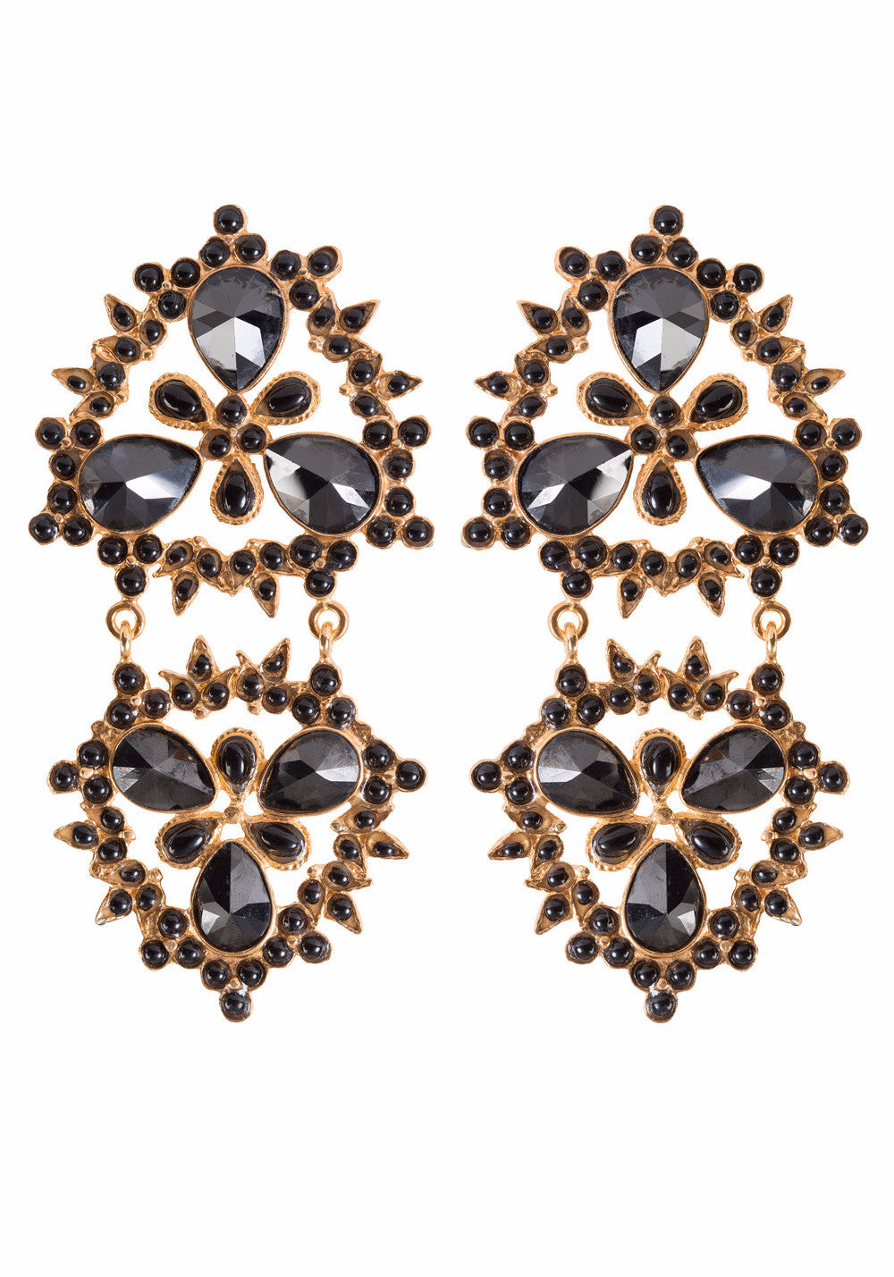 Cloe Earrings Gold & Black