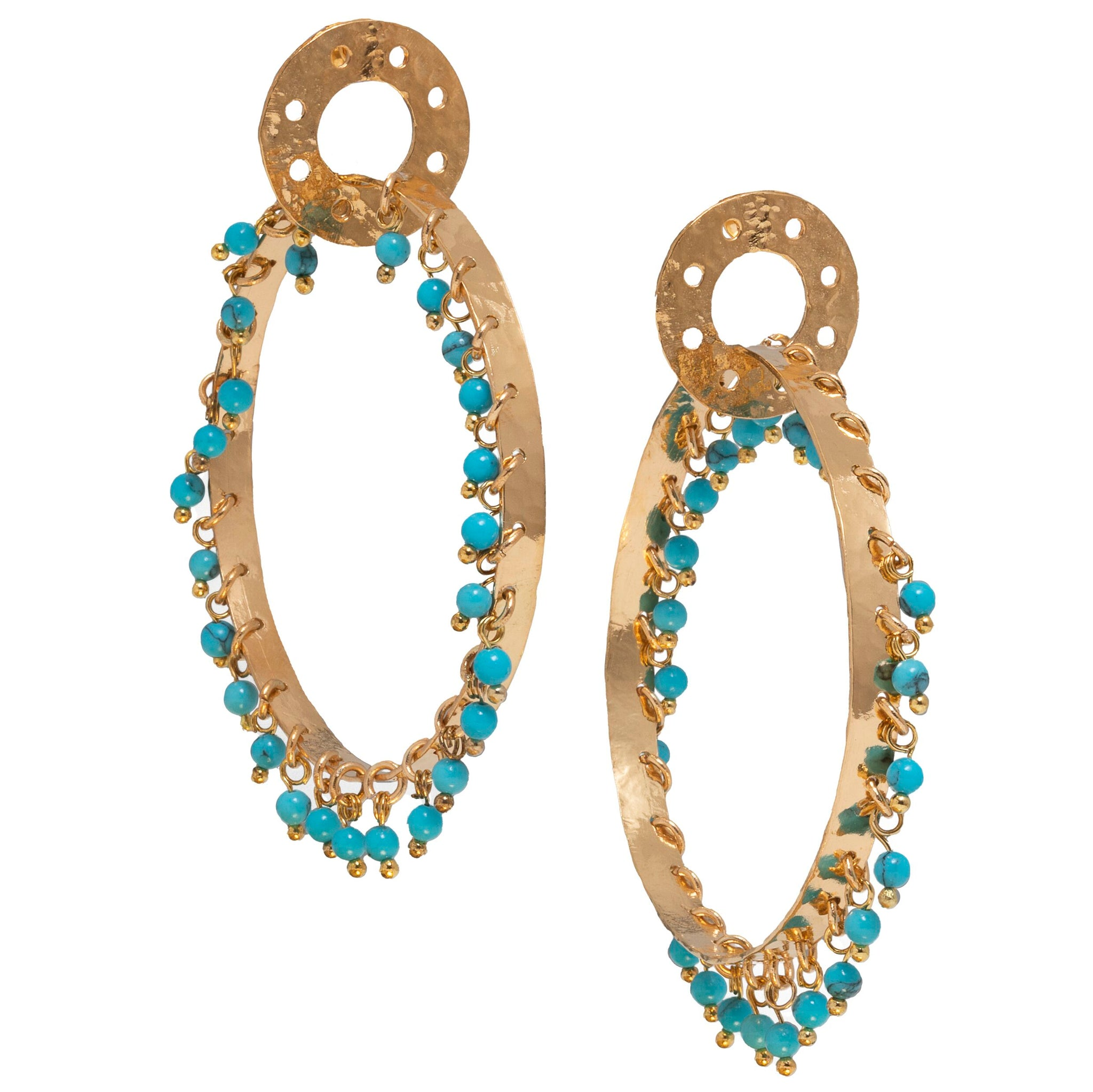 Milana Earrings Turquoise