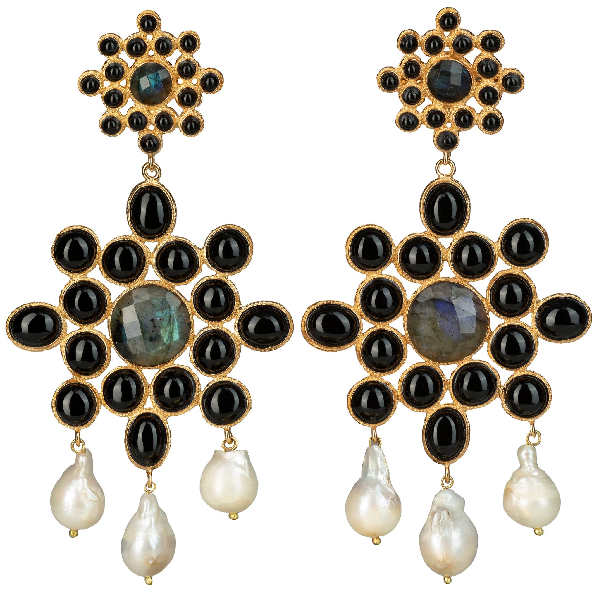Dolores Earrings Black