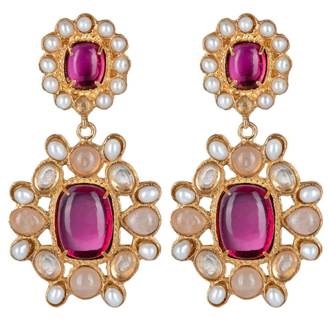 Mirabella Earrings Pink
