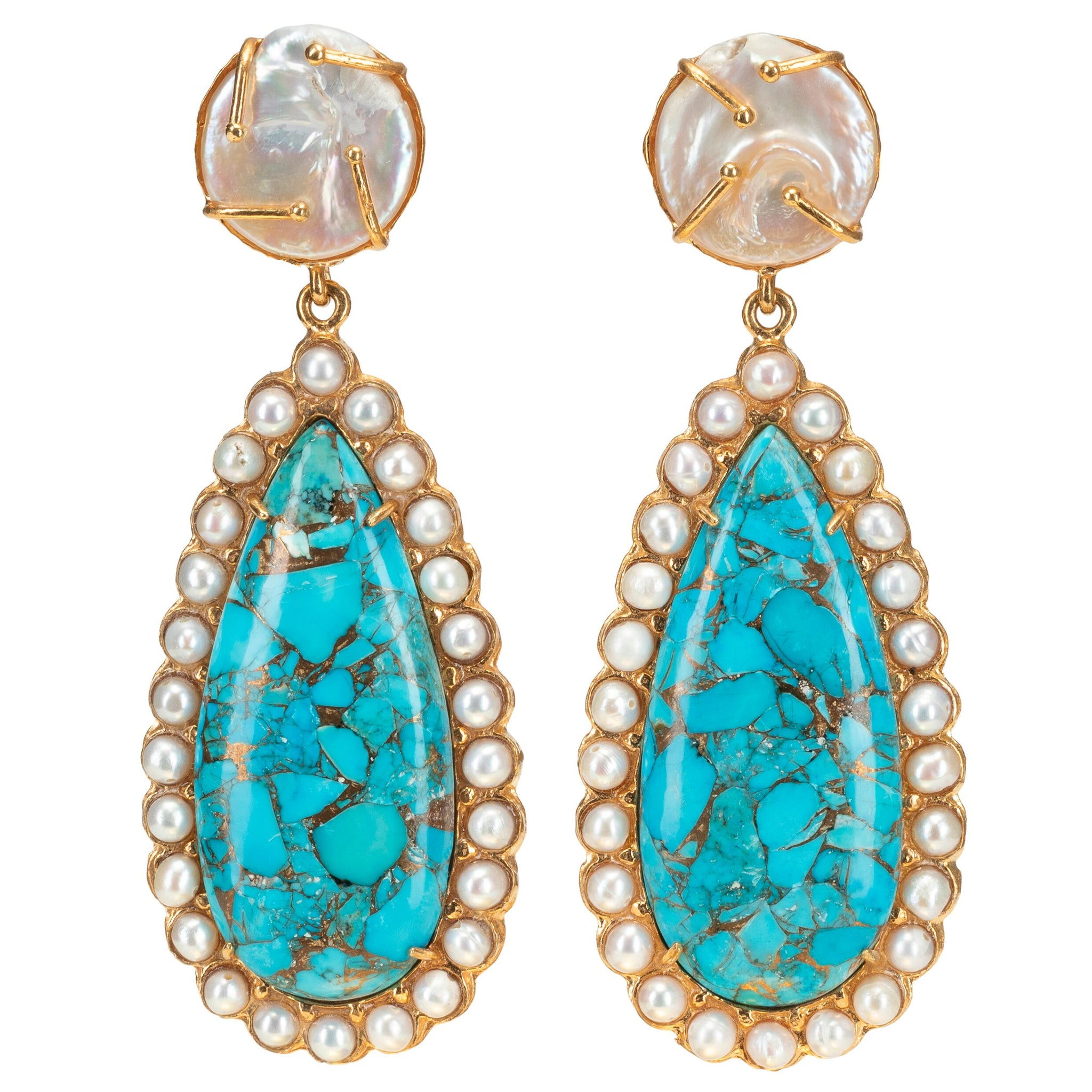 Grazia Earrings Turquoise