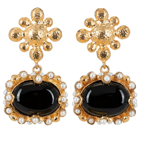 Tesoro Earrings Black
