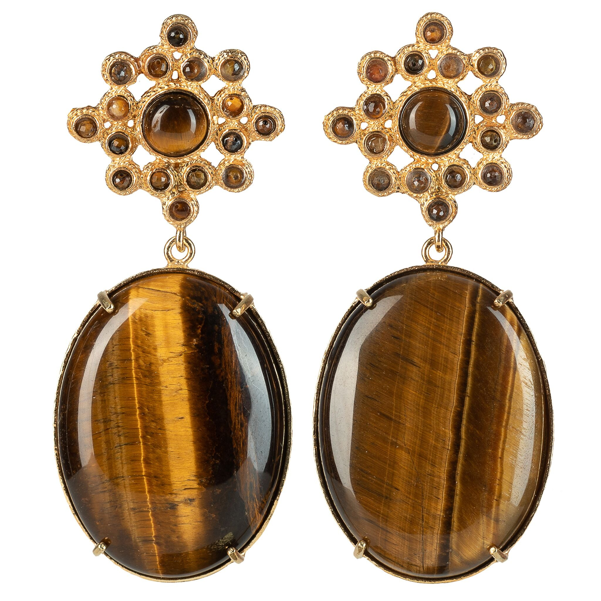 Blanca Earrings Tiger's Eye