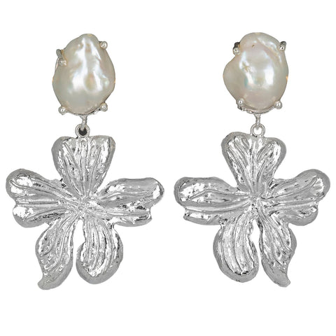 Elisabetta Earrings Silver