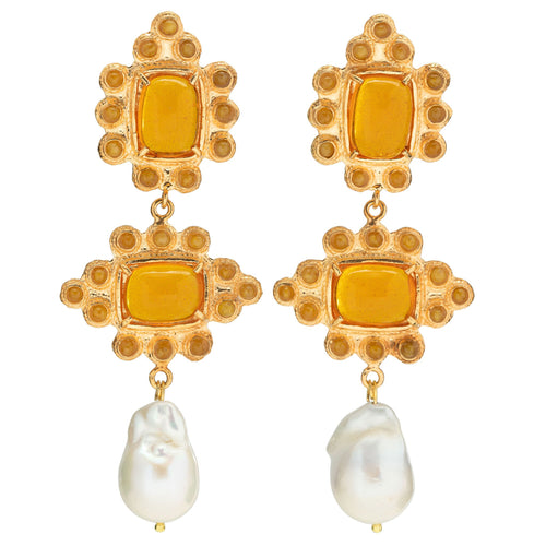 Graciela Earrings Amber