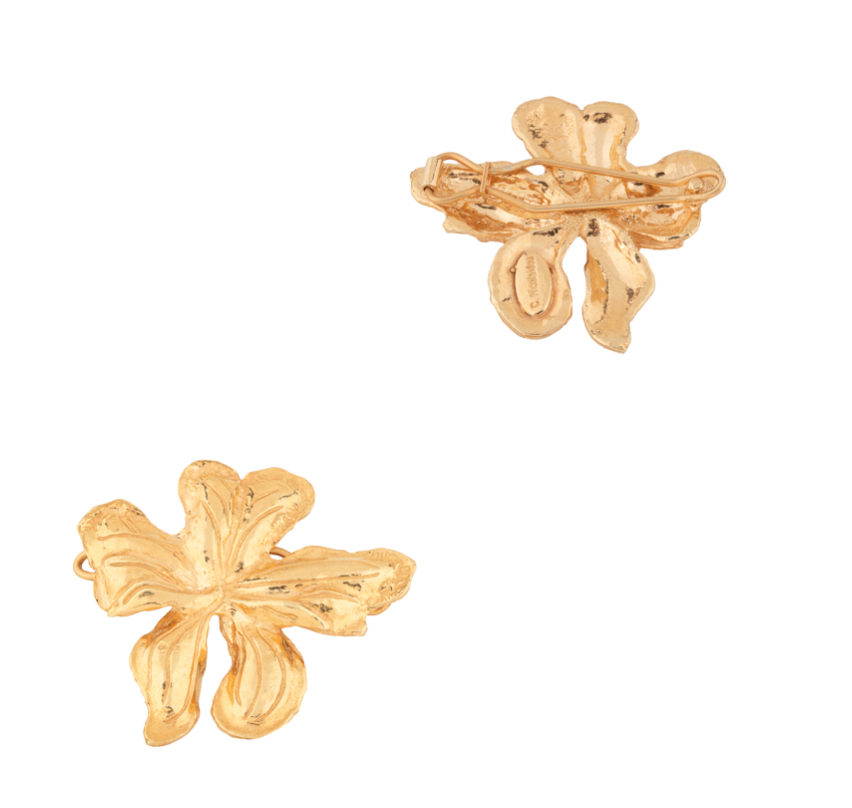 Mini Elena Hair Clip Gold (Pair)