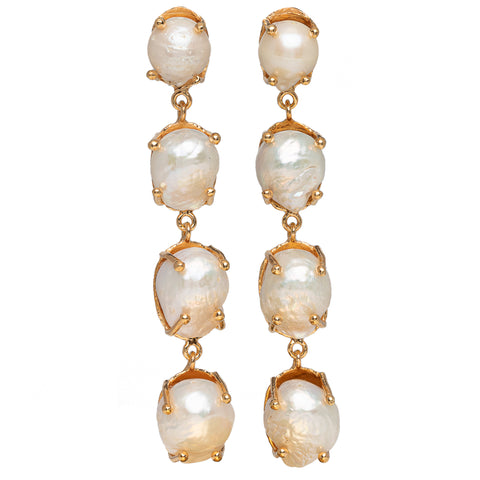 Sorella Earrings Gold & Pearl