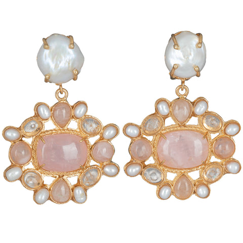 Abriana Earrings Pale Pink