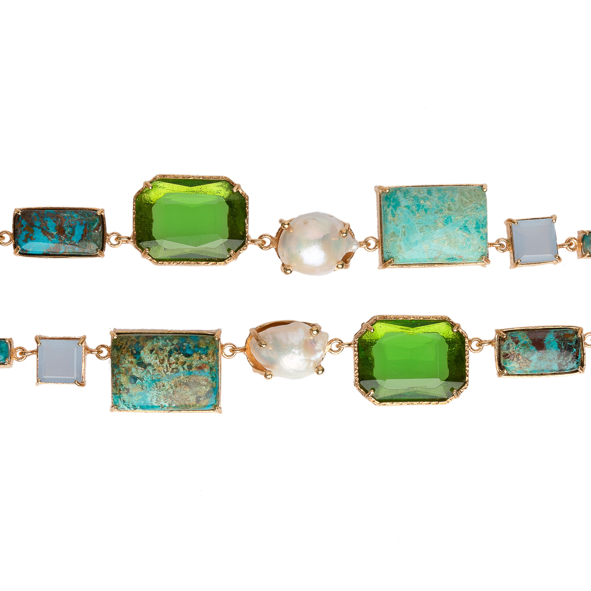 Tabitha Necklace Gold & Green