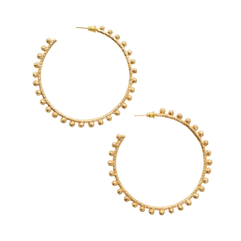 Mini Dominica Hoops Gold