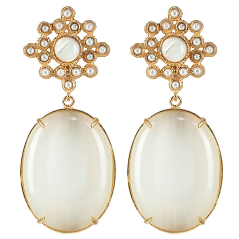 Blanca Earrings White