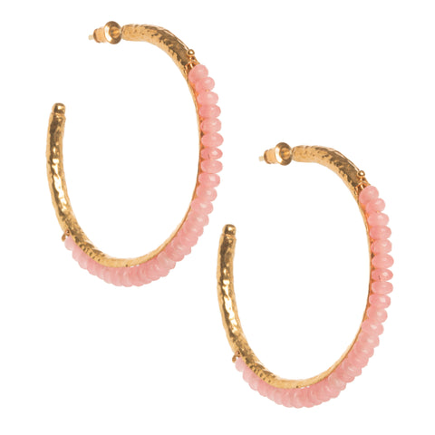 Frida Hoops Pale Pink