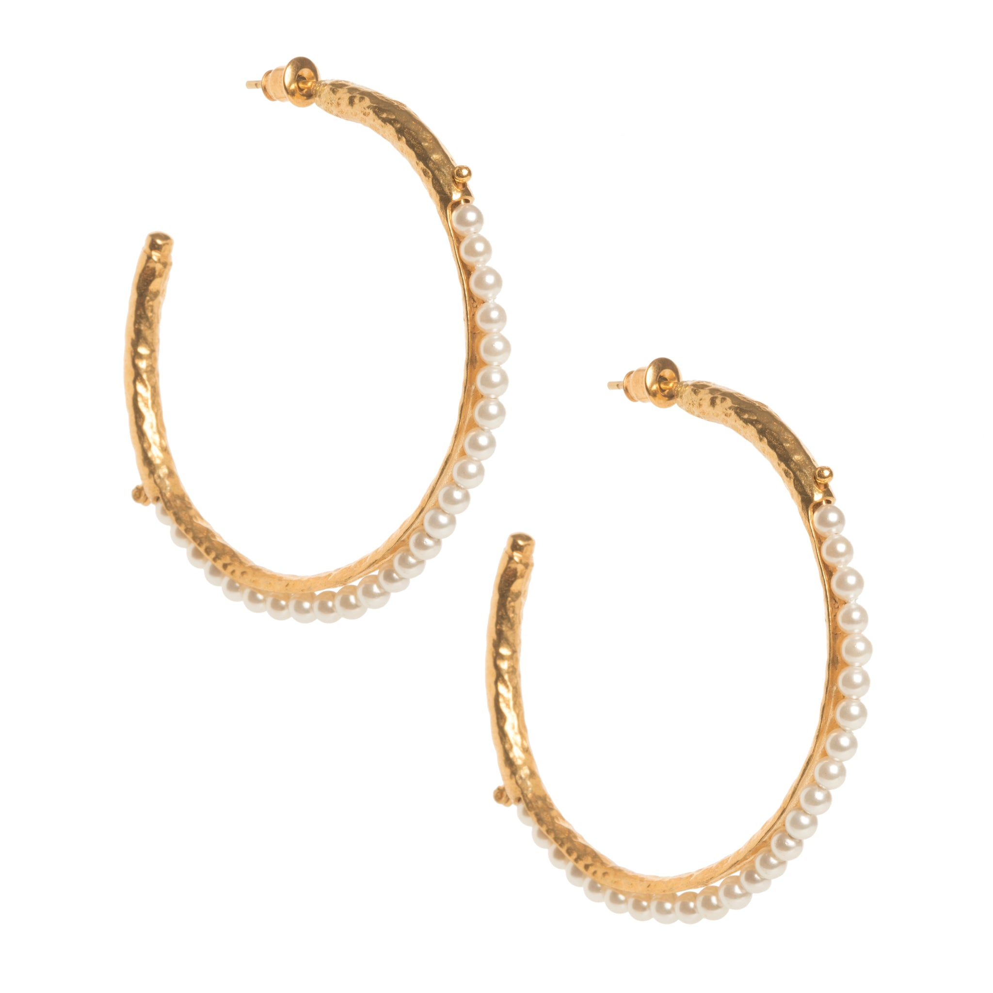 Frida Hoops Pearl