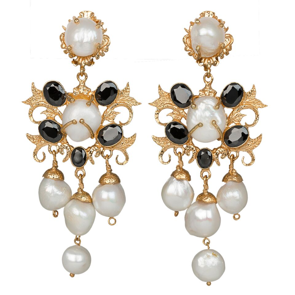Ariadne Earrings Gold/Black