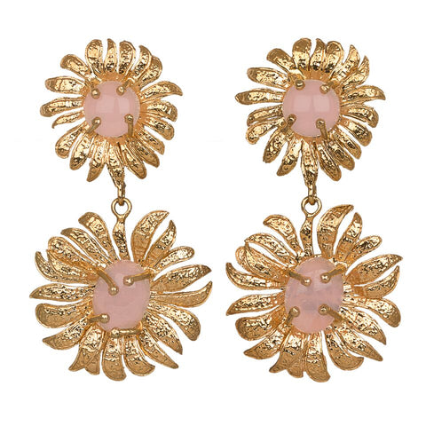 Evelynne Earrings Gold/Pale Pink