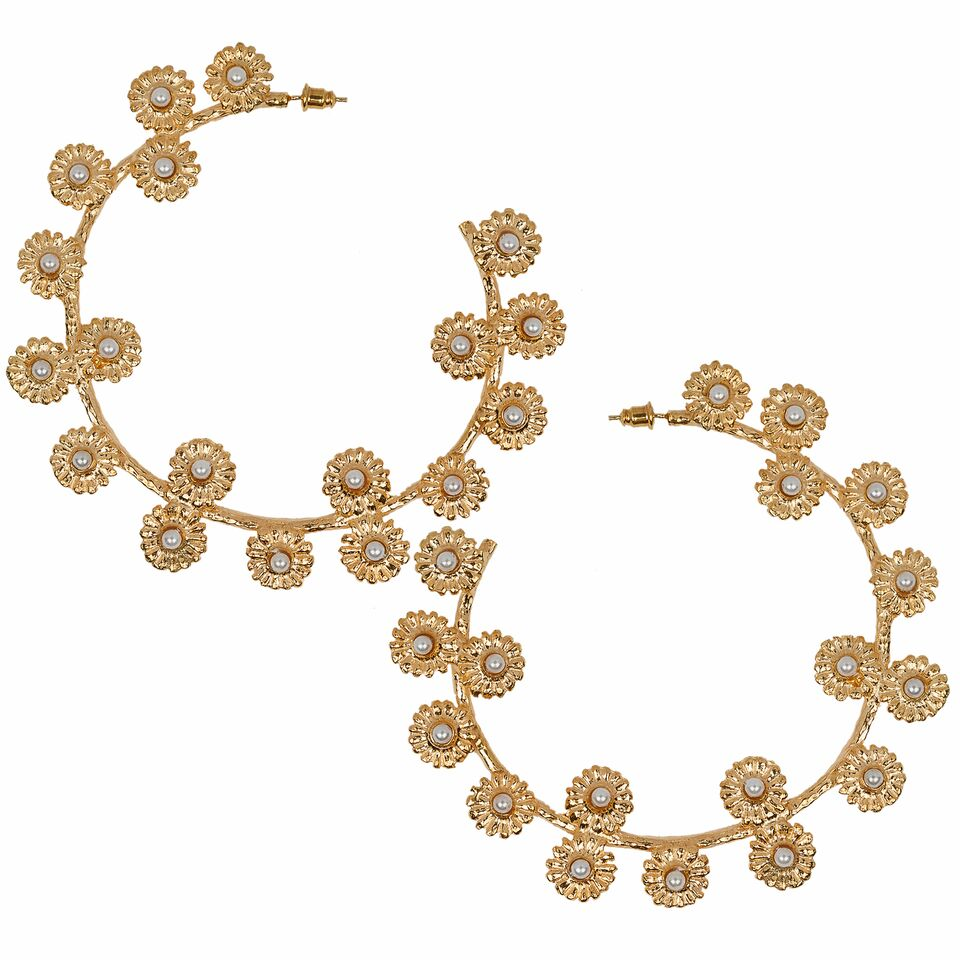 Daisy Hoops Gold