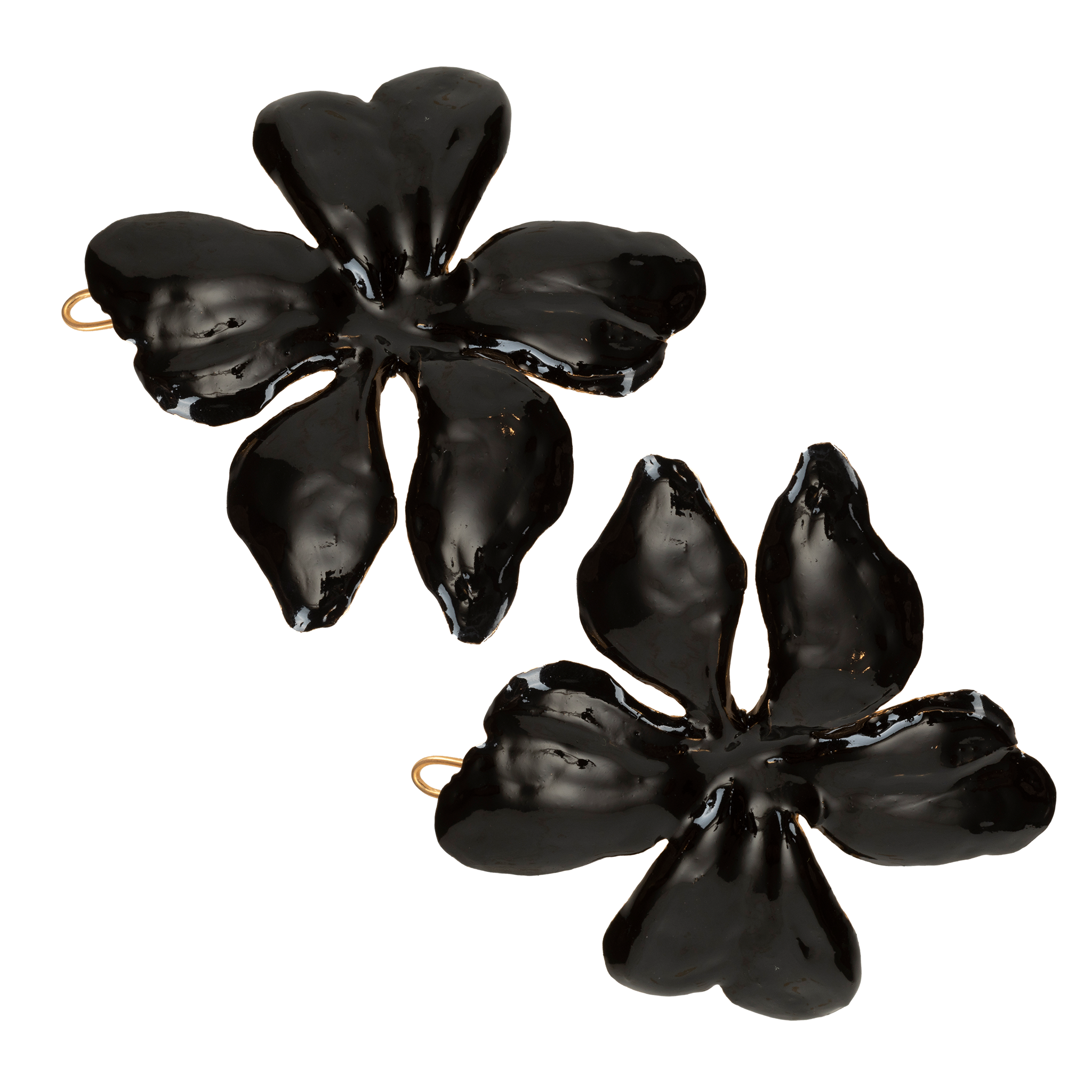 Poppy Hair Clip Black (Pair)