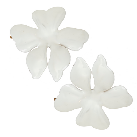 Poppy Hair Clip White (Pair)