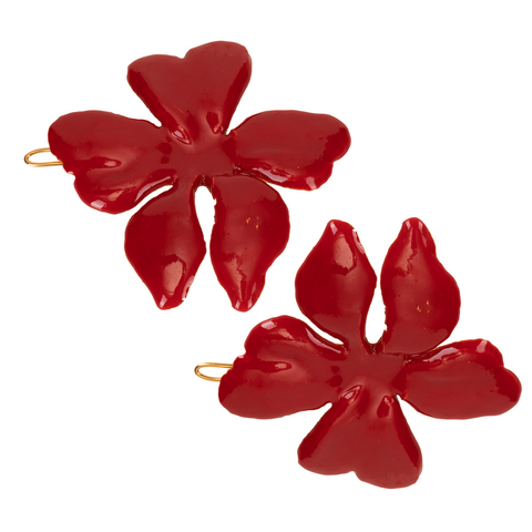 Poppy Hair Clip Red (Pair)