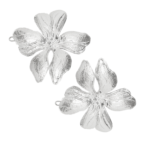 Poppy Hair Clip Silver (Pair)