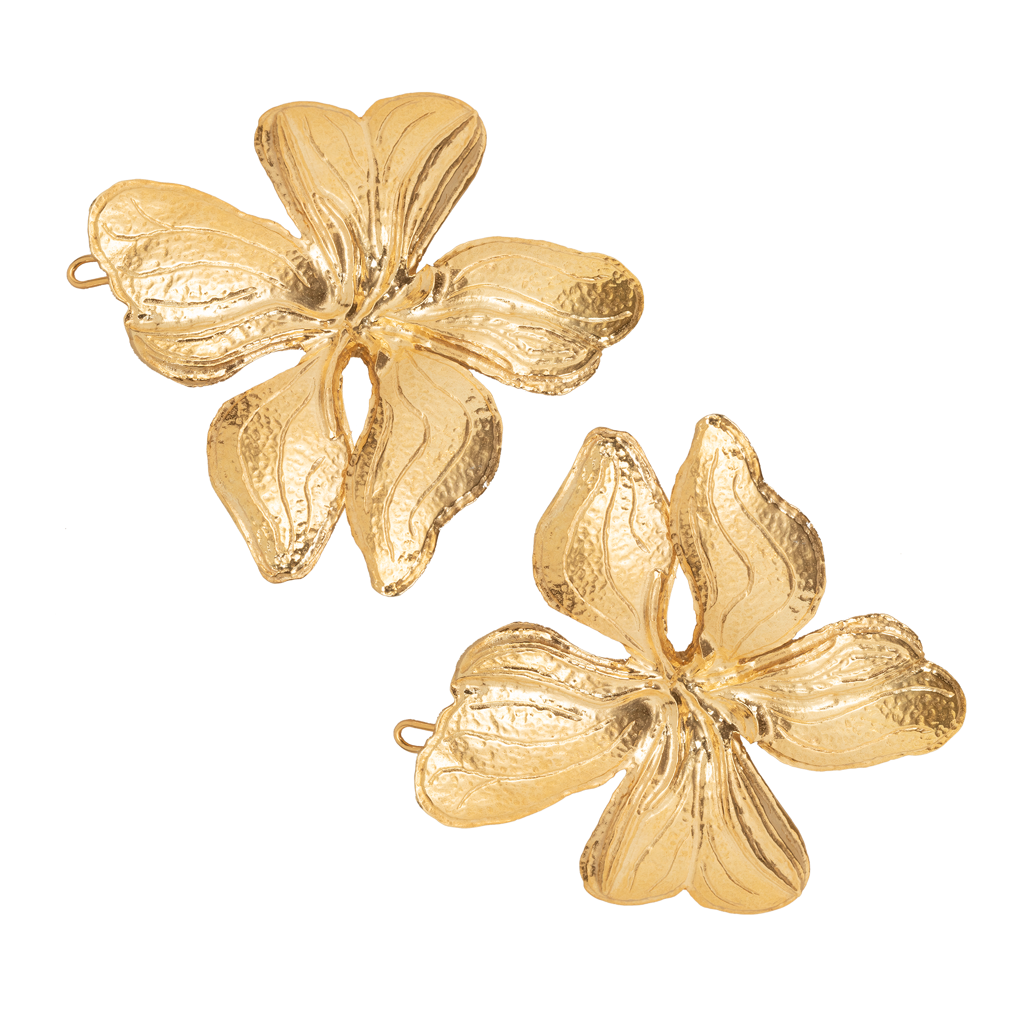 Poppy Hair Clip Gold (Pair)
