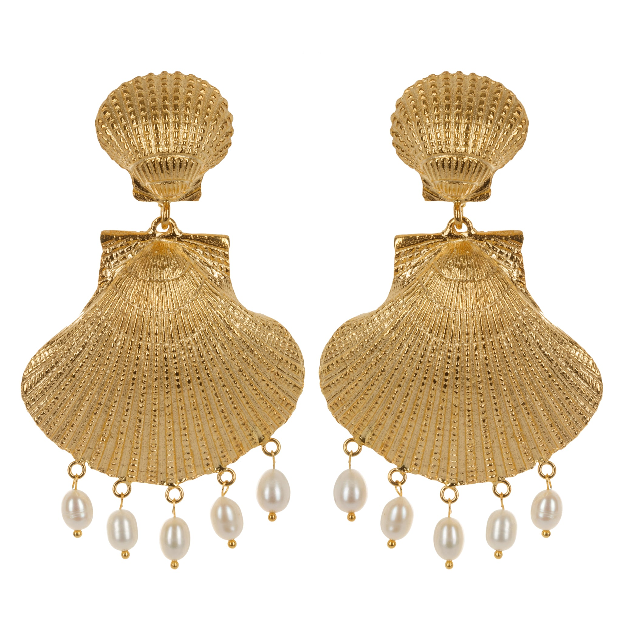 Rococo Earrings Gold