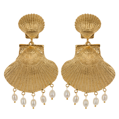 Roccoco Earrings Gold