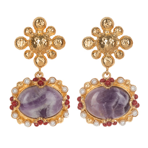 Tesoro Earrings Purple