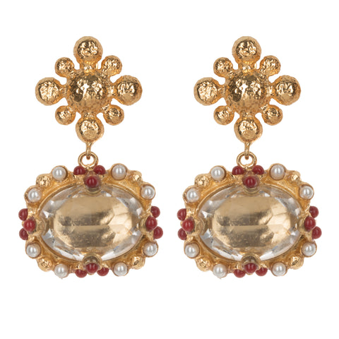 Tesoro Earrings Crystal