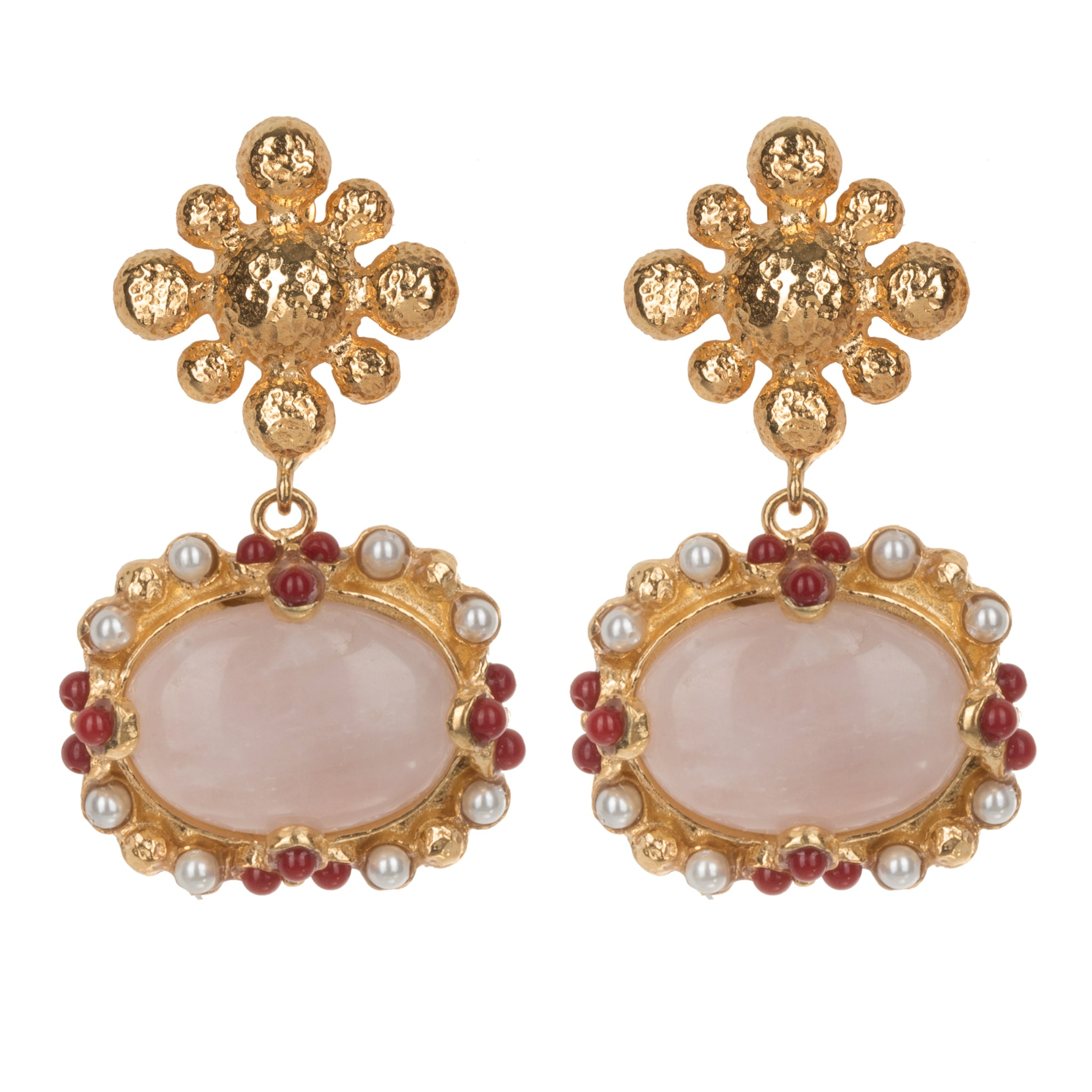 Tesoro Earrings Pale Pink