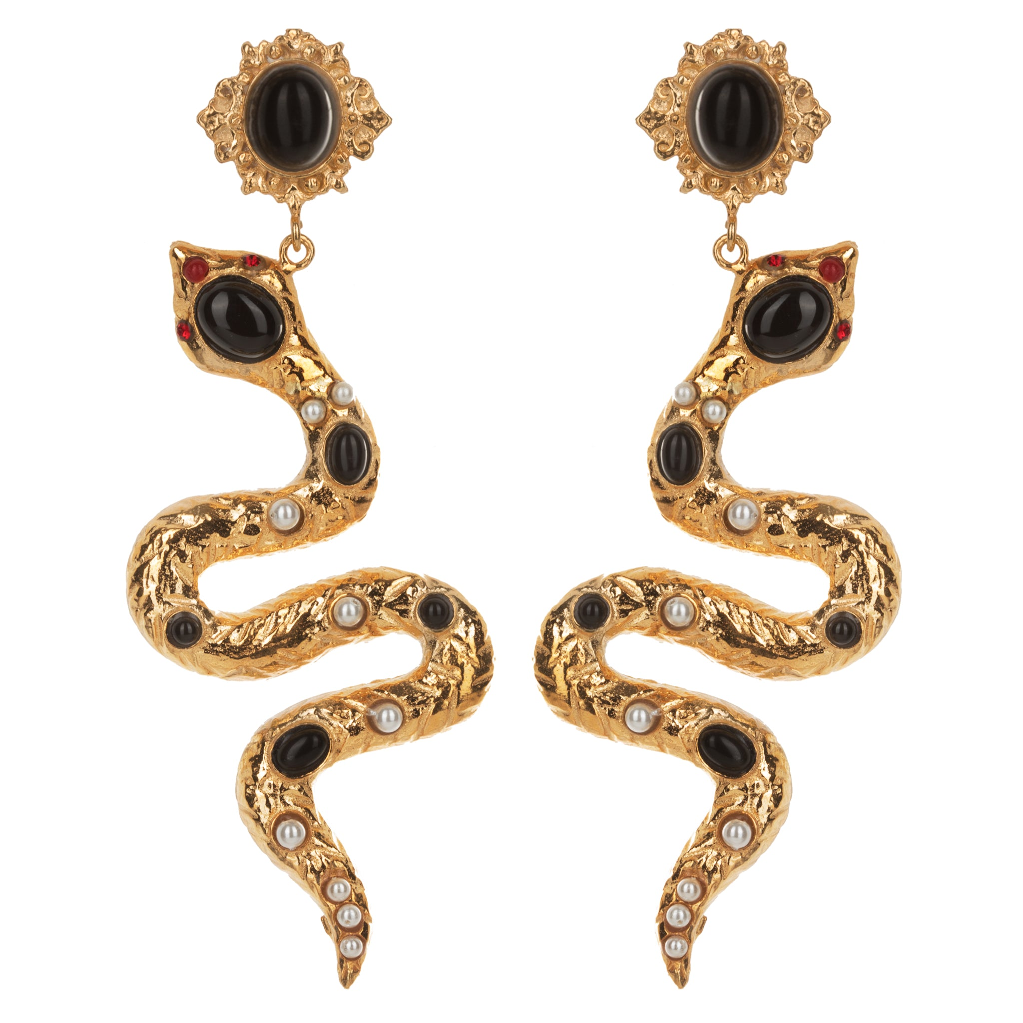 Serpente Earrings Gold