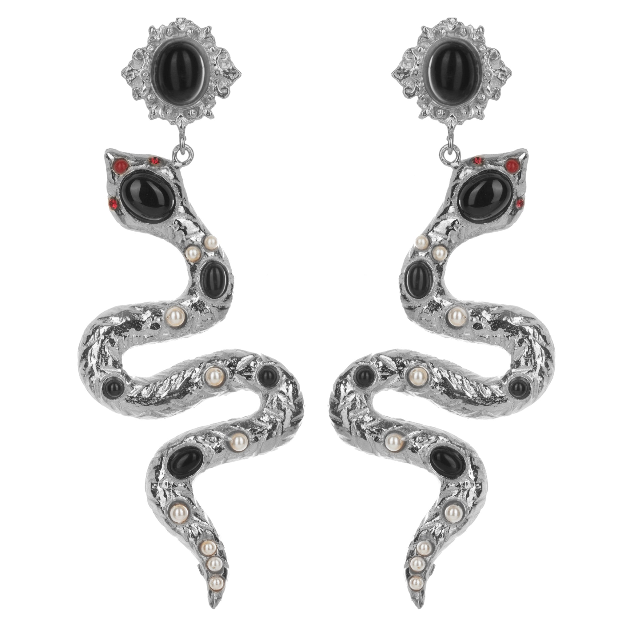 Serpente Earrings Silver