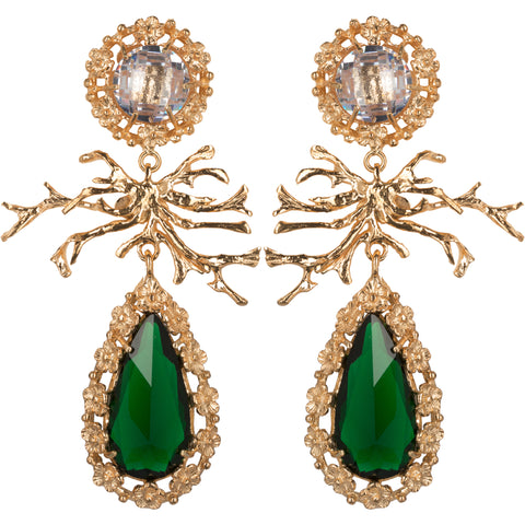 Camile Earrings Green