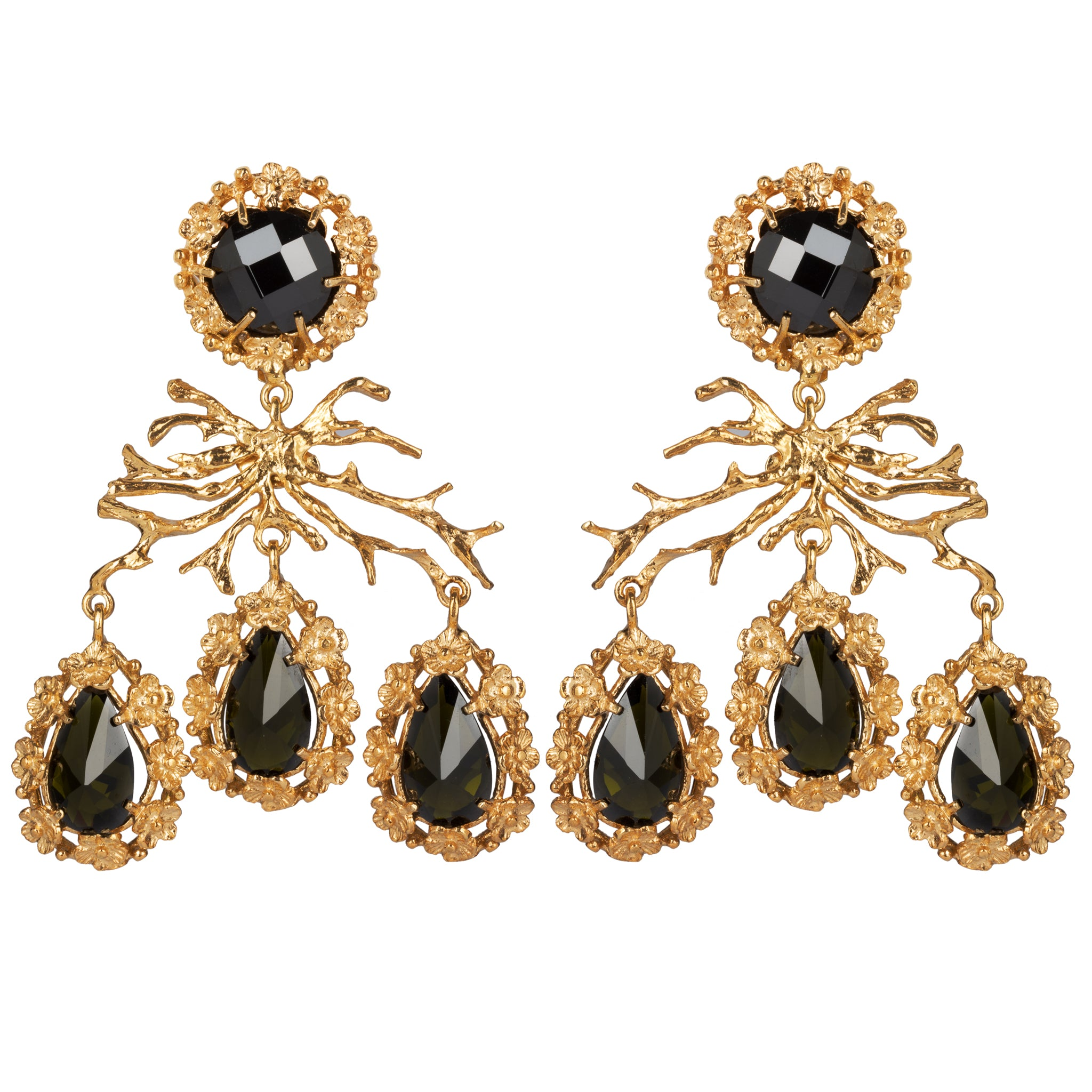 Corallo Earrings Black
